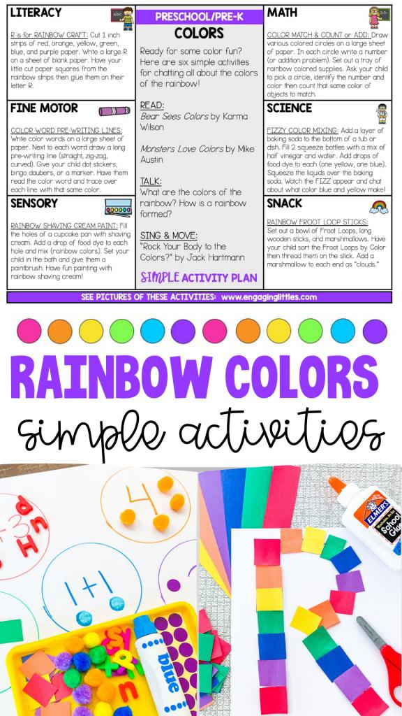 rainbow color activities for preschoolers