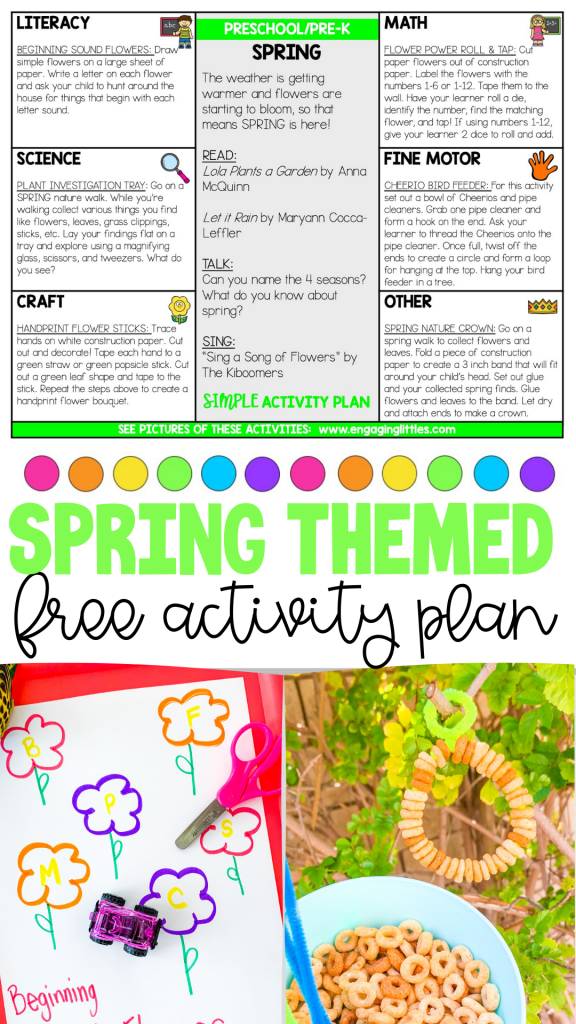spring free activity lesson plans