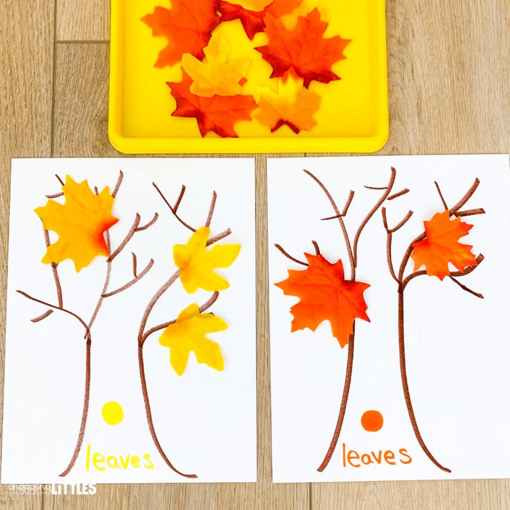 fall math activities for kids