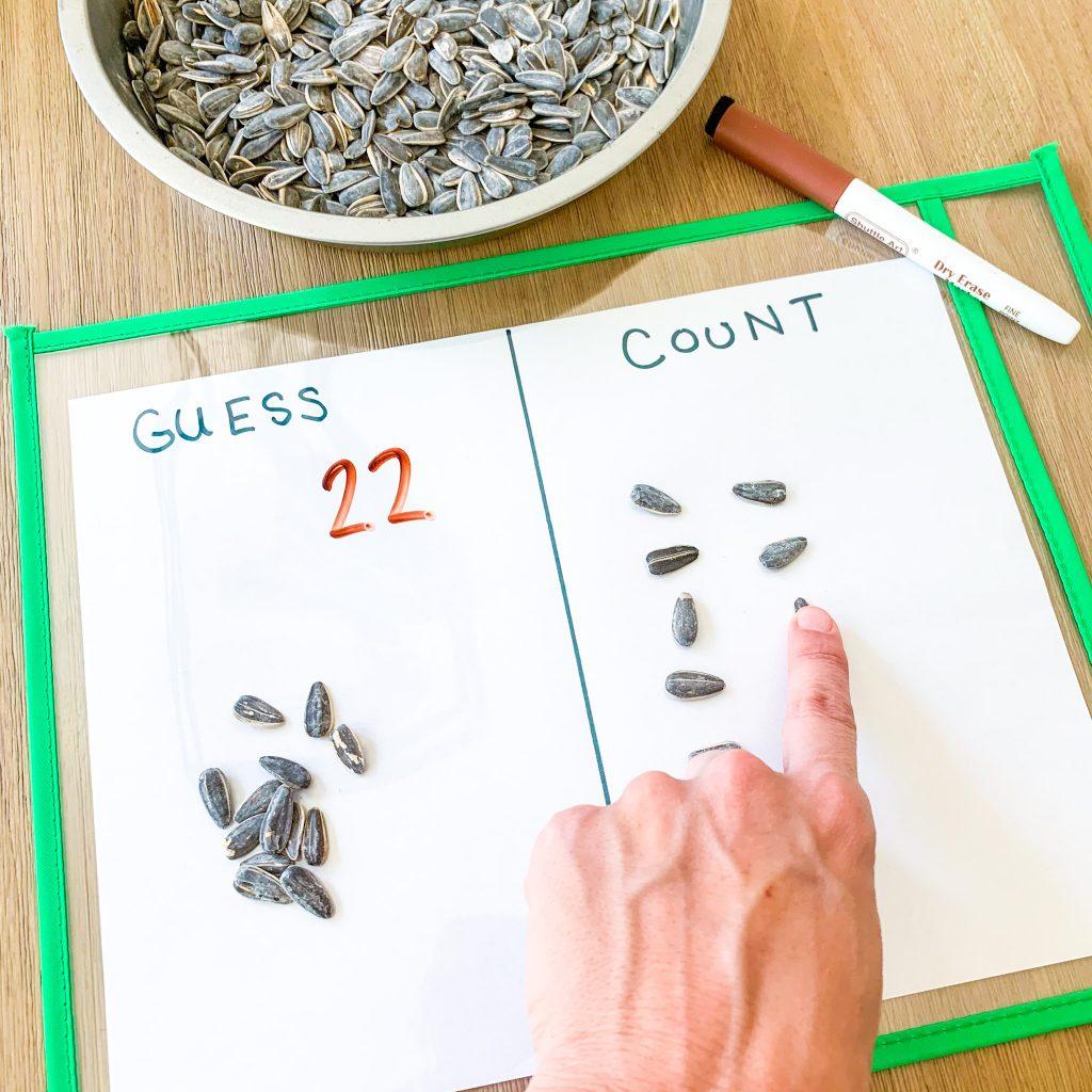 farm math activities for preschool