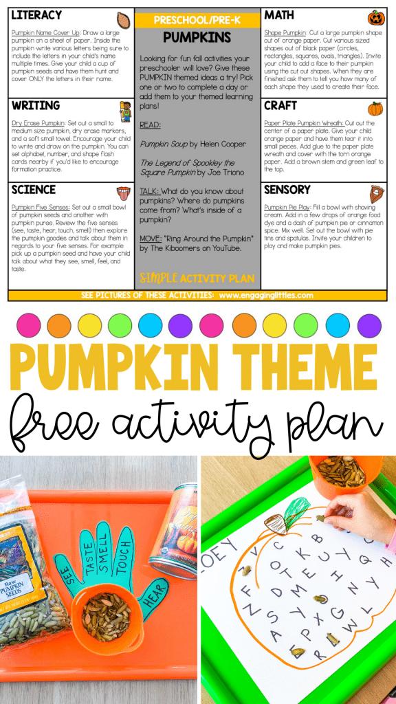 free pumpkin simple activity plan